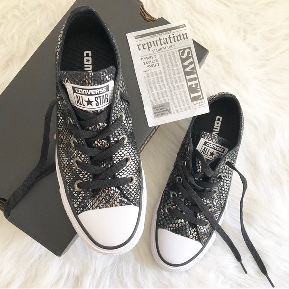 4b4cecc4e187 Converse Shoes - Snakeskin Converse Taylor Swift Reputation EUC